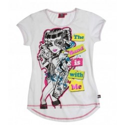 T-shirt Monster High blanc...