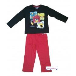 Pyjama Angry Birds noir et...