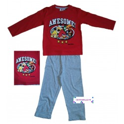 Pyjama Angry Birds rouge
